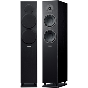 "Elegant, high performance home theater speakers feature two 6 1/2"" cone woofers and 1"" soft dome tweeter, gold-plated terminals, support spikes and stand, and piano black finish. Each."