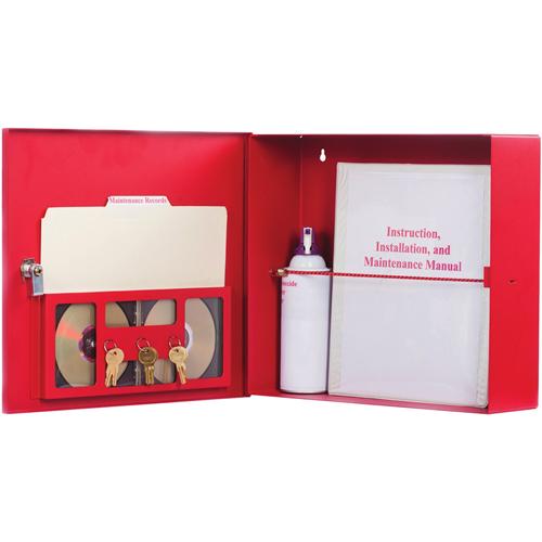 15'X13'X4' FIRE ALARM DOCU BOX RED W/ LOCK