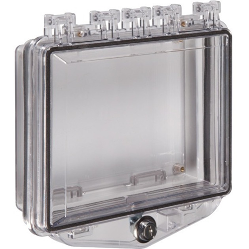 STI Polycarbonate Enclosure with Enclosed Back Box and Exterior Key Lock