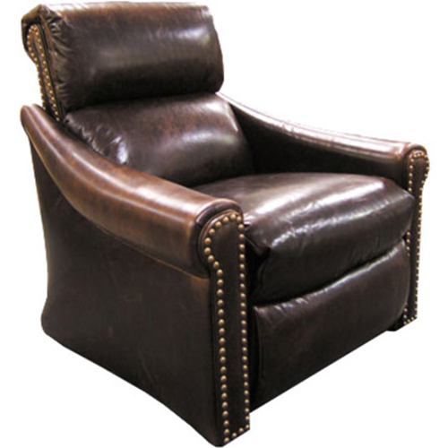EL DORADO THEATER CHAIR UPHOLSTERED IN LEATHER &