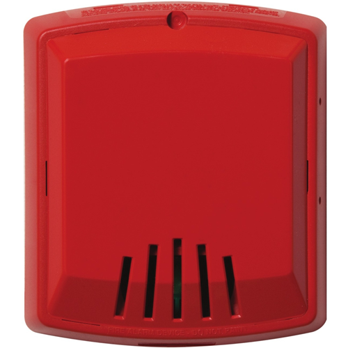 HORN,RED,2W,WALL,12/24V