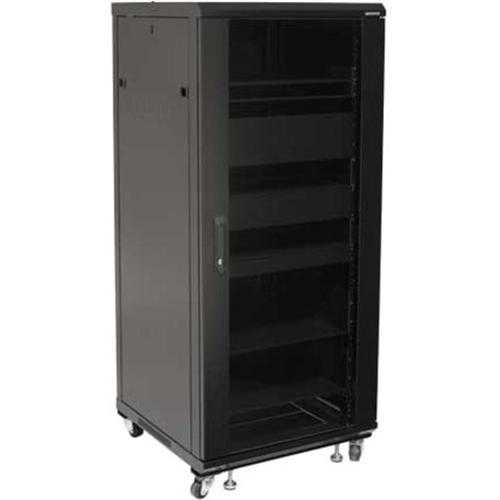 """Sanus 55"""" Tall AV Rack 27U Component Rack for Home Theater Equipment"""