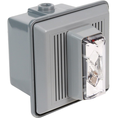 Edwards Signaling Indoor Flush Mount Electronic Horn/Strobe Clear 120VAC 50/60Hz, 0.021A