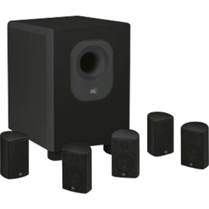 JBL 5.1-Channel Home Theater Speaker System with On-Wall Design and 100W Subwoofer