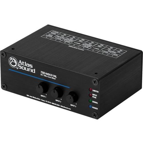Atlas Sound 3 x 1 Mic/line Mixer