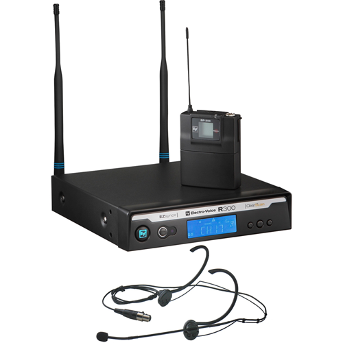 Electro-Voice R300-E-B Headworn Wireless Microphone System