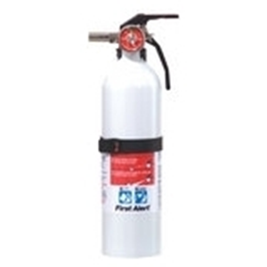 FIRE EXTINGUISHER, WHITE, 5-B:C RECHARGEABLE BRKT