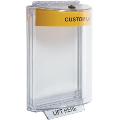 STI Universal Stopper with Horn, Flush, Custom Label STI-13020CY
