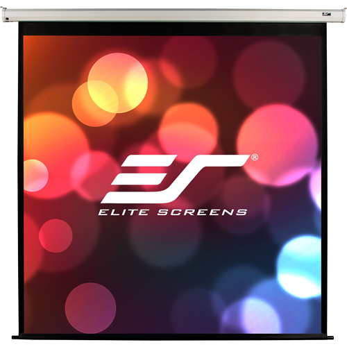 """**Drop Ship Only**  Elite's VMAX166XWH2 is a 166"""" diagonal, 16:9 VMAX2 electric screen with MAX WHITE FG screen material/ which means it has FIBER GLASS backing and it has a 1.1 gain The housing of this model is white in color and it mounts flush to th"""