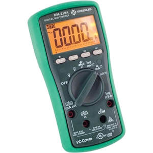 Digital Multimeter With Auto and Manual Ranging Operation and Non-Contact Voltage Detection - Greenlee - DM-210A