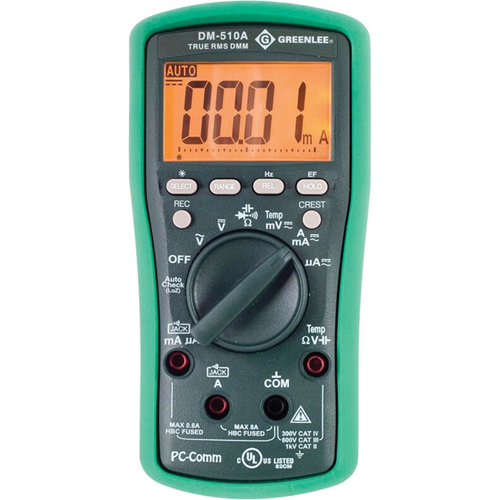 True RMS Professional Plant Digital Multimeter - Greenlee - DM-510A