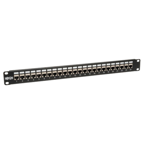 24-Port Shielded Cat6 Feed-through Patch panel