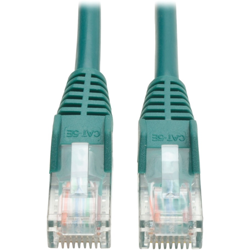 15-ft. Cat5e 350MHz Snagless Molded Cable (RJ45 M/M) - Green