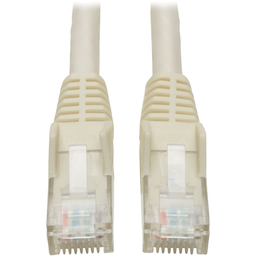 50FT CAT6 WHITE GIGABIT MOLDED SNAGLESS RJ45 M/M PATCH CABLE