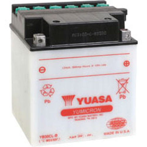 YB30CLB MOTORCYCLE BATTERY DRY W/ACID PACK