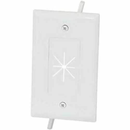 DataComm Cable Plate with Flexible Opening 1-Gang White