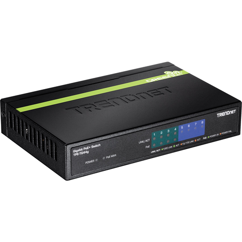 8-PORT GREENNET GIGABIT POE SWITCH (4 POE 4 NON-POE)