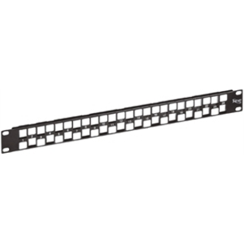 ICC Blank Patch Panel 24-Port EZ 1RMS