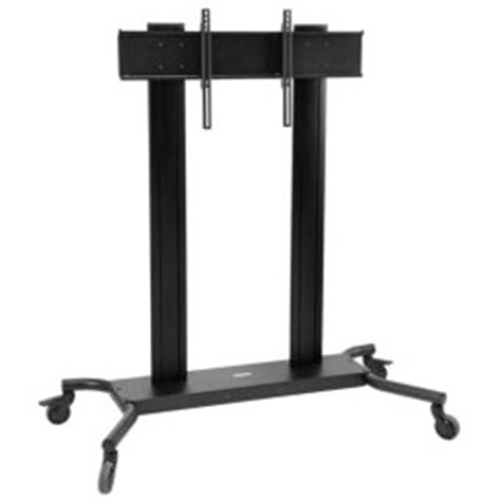 """Flat Panel Floor Cart For up to 90"""" Flat Panel Displays. Silver"""