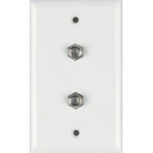DataComm Dual Coax Wall Plate