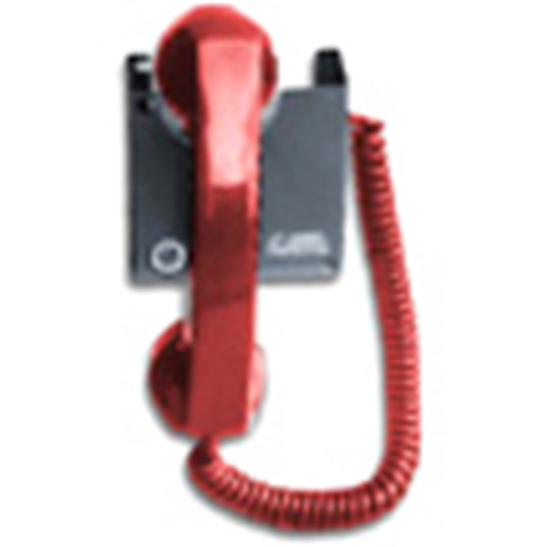 Edwards Four State Remote Telephone Handset Station - Red, 5' Coiled Cord