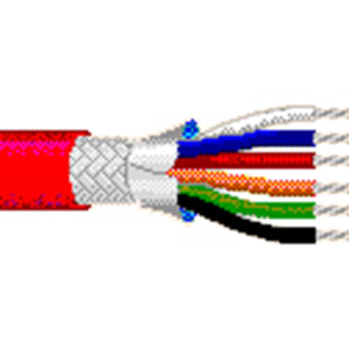9 #24 FEP SHLD FEP CNTROL, INSTRUMENT CABLE RED 1M