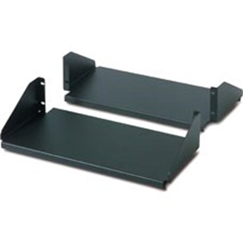 Schneider Electric Double Sided Fixed Shelf for 2-Post Rack 250 lbs Black