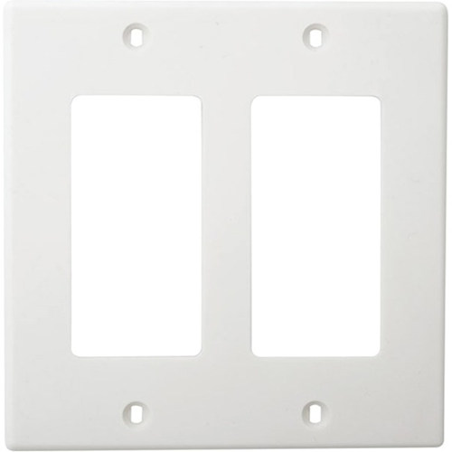 DOUBLE GANG DECORA FACEPLATE. WHITE