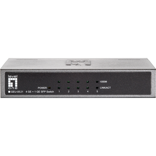 ADI | LevelOne GEU-0521 4-Port Gigabit + 1-SFP Port Desktop Switch