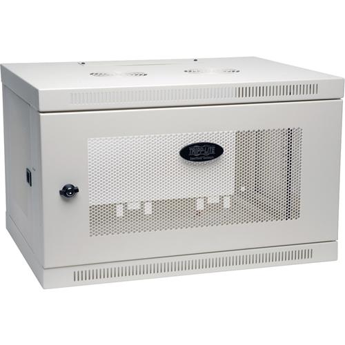 Tripp Lite 6U Wall Mount Rack Enclosure Server Cabinet Wallmount Doors Sides White
