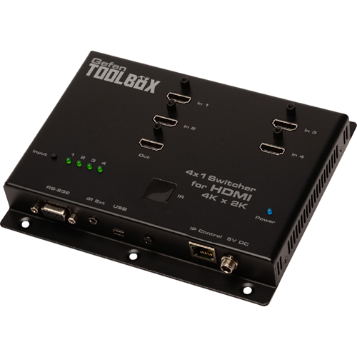 4X1 SWITCHER FOR HDMI 4KX2K BLK