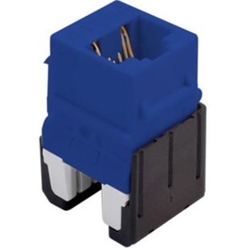 Legrand-On-Q Quick Connect Cat 6a RJ45 Keystone Insert, Blue (M10)