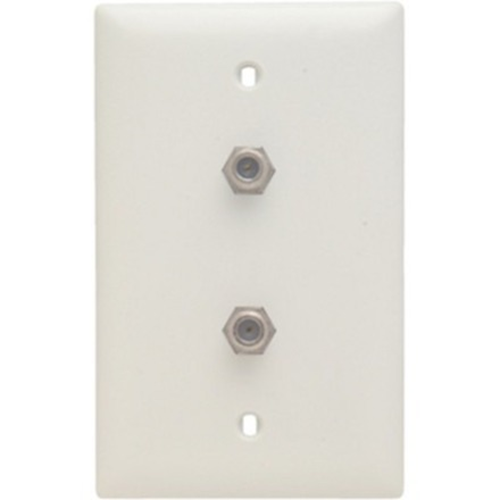 Legrand-On-Q Dual 1 GHz F-Coupler Wall Plate, White (M10)