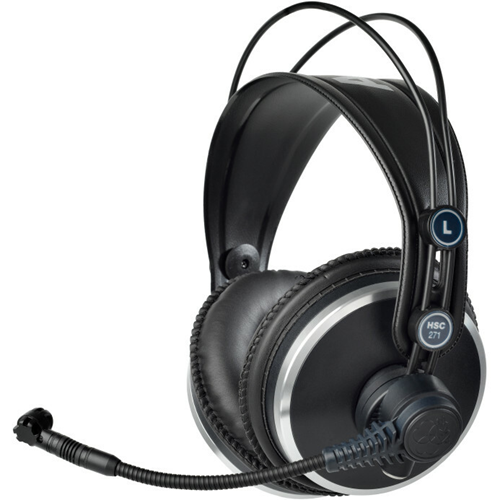 HSC171 CLOSED-BACK HEADSETS W/ CONDENSER MIC BROADCAST RECORDING