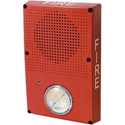 OUTDOOR HORN/STROBE,RED W/FIRE