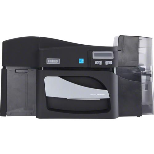 Fargo DTC4500E Dye Sublimation/Thermal Transfer Printer - Color - Black, Gray - Desktop - Card Print