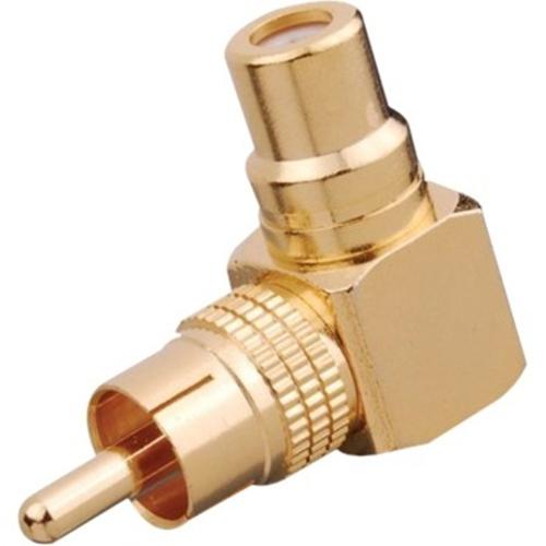 Vanco Right Angle RCA Male Plug to RCA Female Jack Adapter