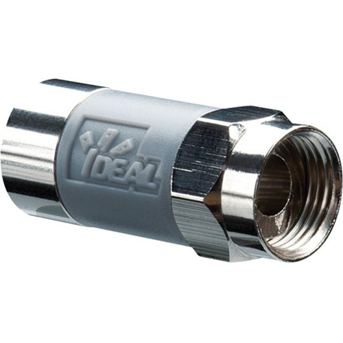RG6 F TOOL-LESS COMPRESSION CONNECTOR GRAY 50 PK