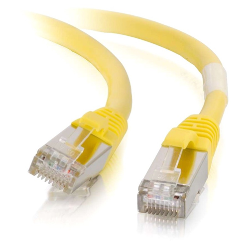 CBL 3FT CAT6A SNAGLESS STP CABLE-YLW