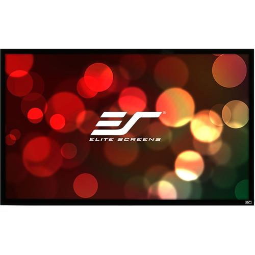 ezFrame Wall Mount Fixed Frame Projection Screen, 100 , 100 Diagonal, HDTV (16:9), Velvet Border