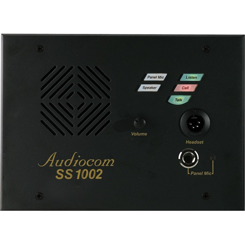 1 CH DESKTOP SPEAKER STATION W/ ANGLE BOX, (2) XLR-3.