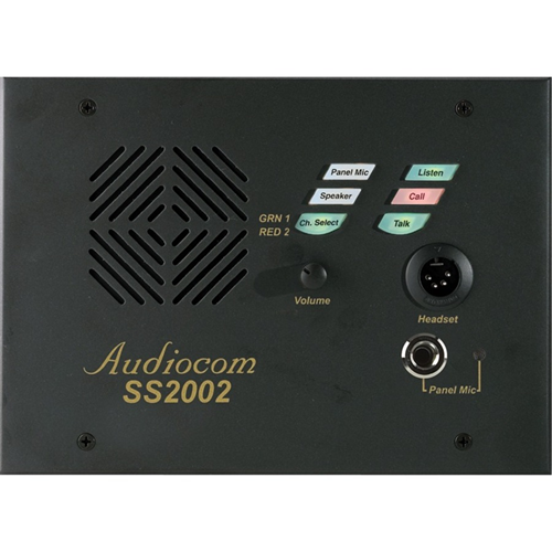2 CH PORTABLE SPEAKER STATION W/TOP HANDLE BOX, (2) XLR-6).