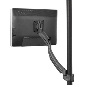 Chief KONTOUR K1P120B Pole Mount for Flat Panel Display - Black - TAA Compliant