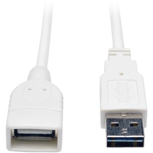 3FT UNIV HI-SPEED USB 2.0 EXTEN CBL WHT