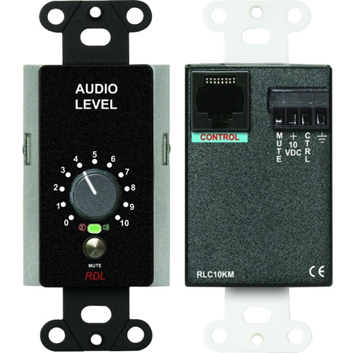 REMOTE LEVEL CONTROL WITH MUTING - BLACK