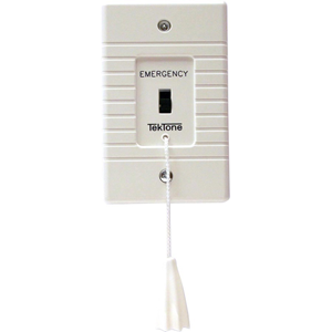 EMERGENCY CALL SWITCH, TWO POLE, PLASTIC PLATE