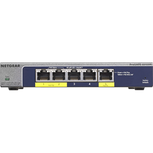 NETGEAR 5-Port Gigabit Smart Managed Plus PoE Switch, 19W, GS105PE