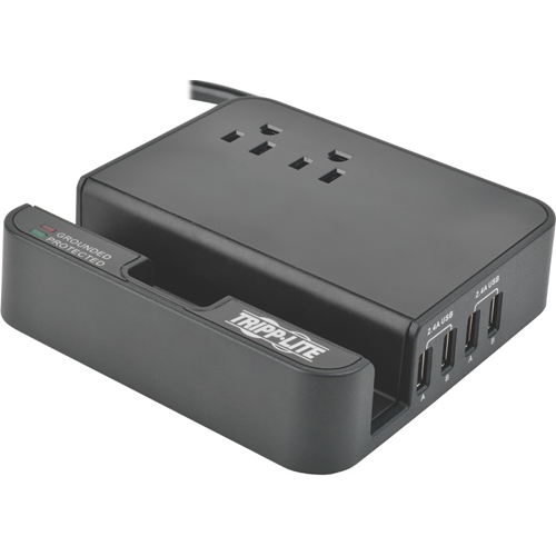 Tripp Lite 4-Port USB Charging Station Surge 2 Outlet Ipad Tablet Stand