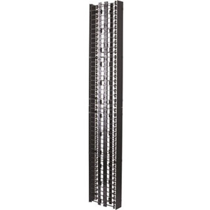 VERTICAL CABLE MGR,DBL SIDED 6' X 13' X 77', W/COV