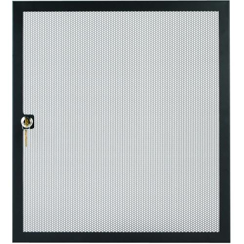 ERD Economy Perforated 16-Space Rack Door (Black)